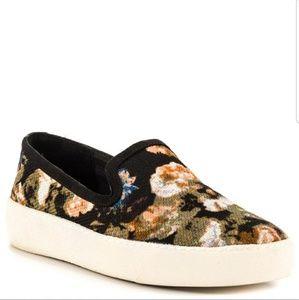 Sam Edelman Becker Floral slip on sneaker shoe